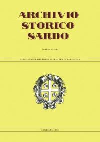 Archivio Storico Sardo - Volume n. XXXVII - Deputazione di Storia Patria per la Sardegna