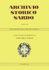 Archivio Storico Sardo - Volume n. XXXIX - Deputazione di Storia Patria per la Sardegna