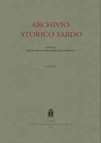 Archivio Storico Sardo - Volume n. XXV Fasc. 3 e 4 - Deputazione di Storia Patria per la Sardegna