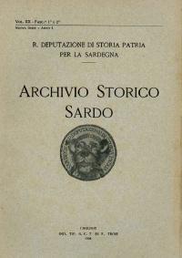 Archivio Storico Sardo - Volume n. XX Fasc. 1 e 2 - Regia Deputazione di Storia Patria per la Sardegna
