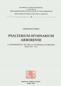 PSALTERIUM - HYMNARIUM - ARBORENSE - GIAMPAOLO MELE