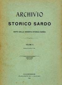 Archivio Storico Sardo - Volume n. II Fasc. 1-4 - Società Storica Sarda