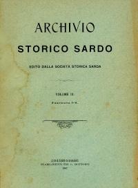 Archivio Storico Sardo - Volume n. III Fasc. 1-4 - Società Storica Sarda