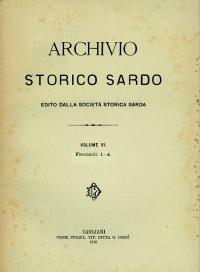 Archivio Storico Sardo - Volume n. VI Fasc. 1-4 - Società Storica Sarda