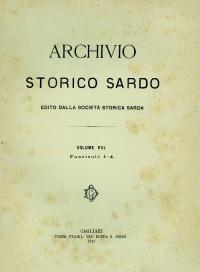 Archivio Storico Sardo - Volume n. VIII Fasc. 1-4 - Società Storica Sarda
